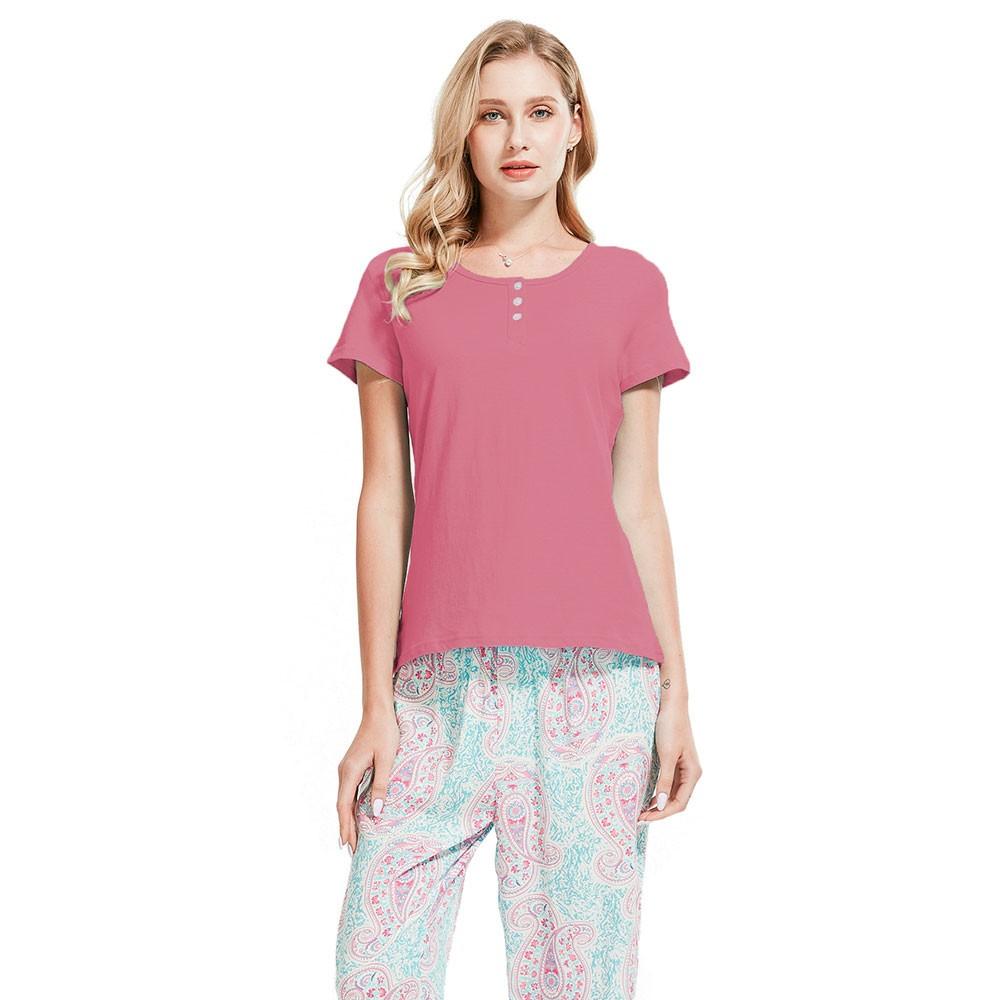 Pijama largo tahiti rosa tienda tramas for Sognare asciugamani