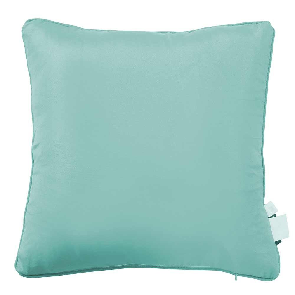 Cuscini Verde Tiffany.Cuscino Jacquard Chenilla Sol Verde Tiffany 45x45
