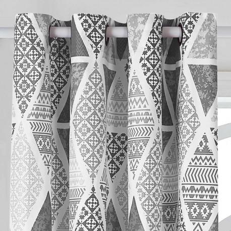 Tenda TRINITY Grigio Perla stampate