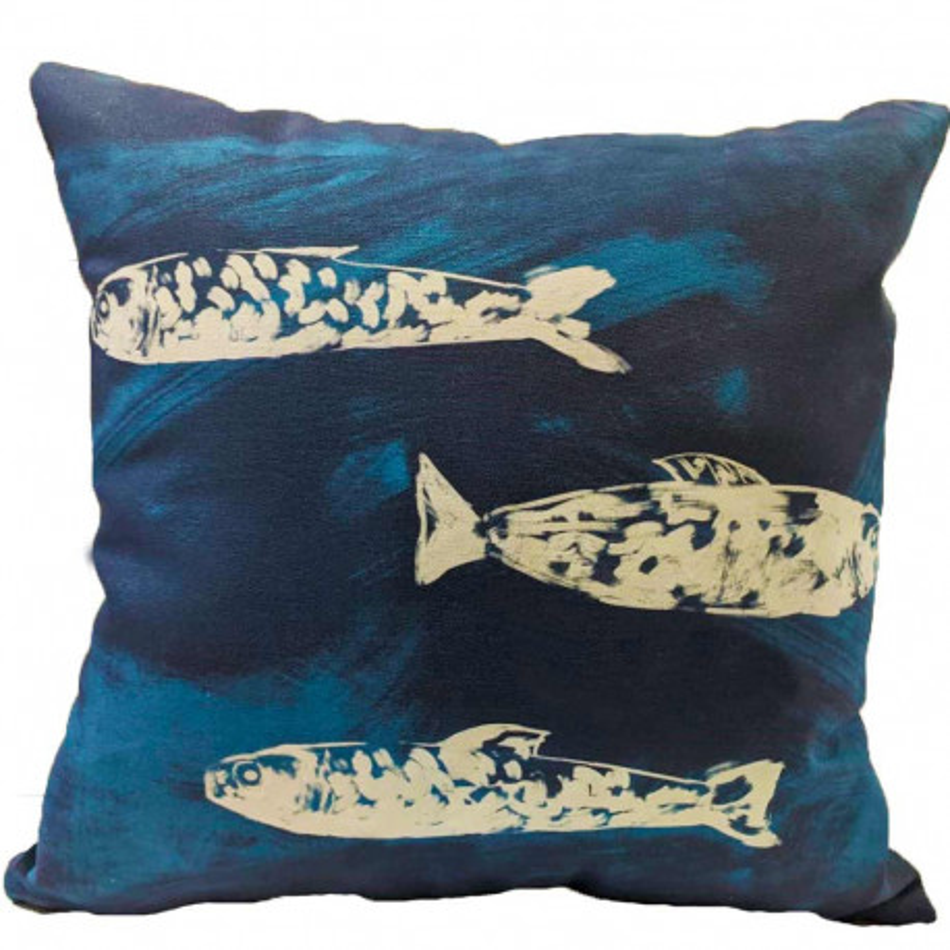 Cuscino 45x45 cm Pesci Bianco cuscini-decorativo-stampati