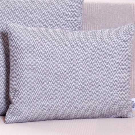 Cuscino 30x50 Punta grigio perla decorativi