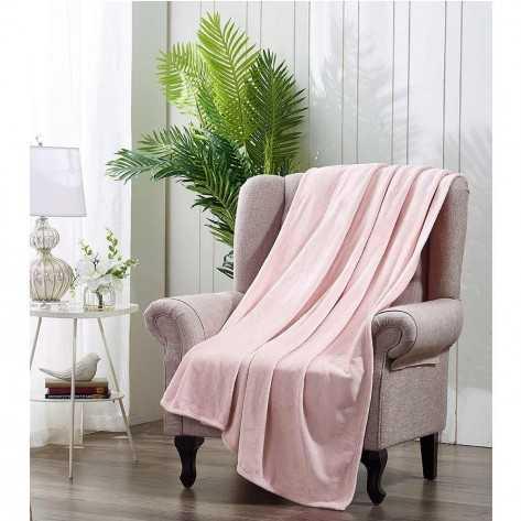 Coperta divano velluto rosa chiaro coperte-velluto