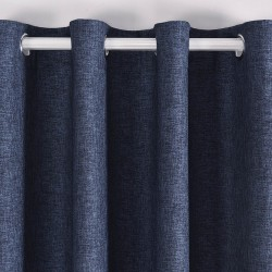 Tenda Falso Lino Blackout Blu opache