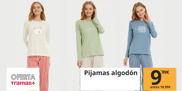 Nueva promoción a la vista: Pijamas de algodón a los mejores precios