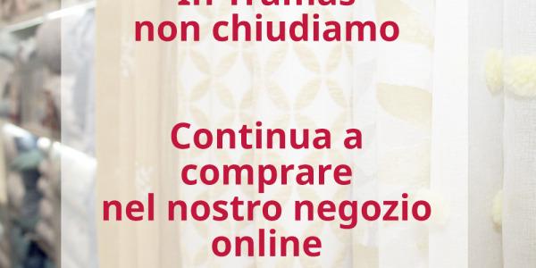 Continuiamo a servirvi nel nostro negozio online -  misure dovute alle nuove restrizioni
