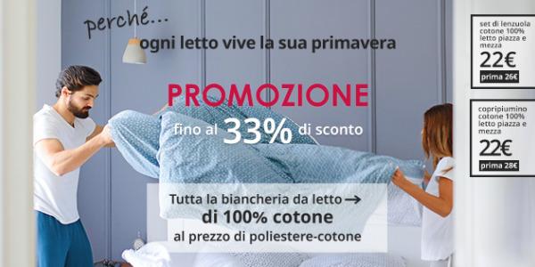 Ogni letto vive la sua primavera: Offerta esclusiva di lenzuola 100% cotone