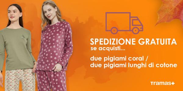 Autumn is coming e per festeggiare…  Spedizione gratuita per l'acquisto di due pigiami!